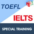 Special Training For IELTS / TOEFL preparation.