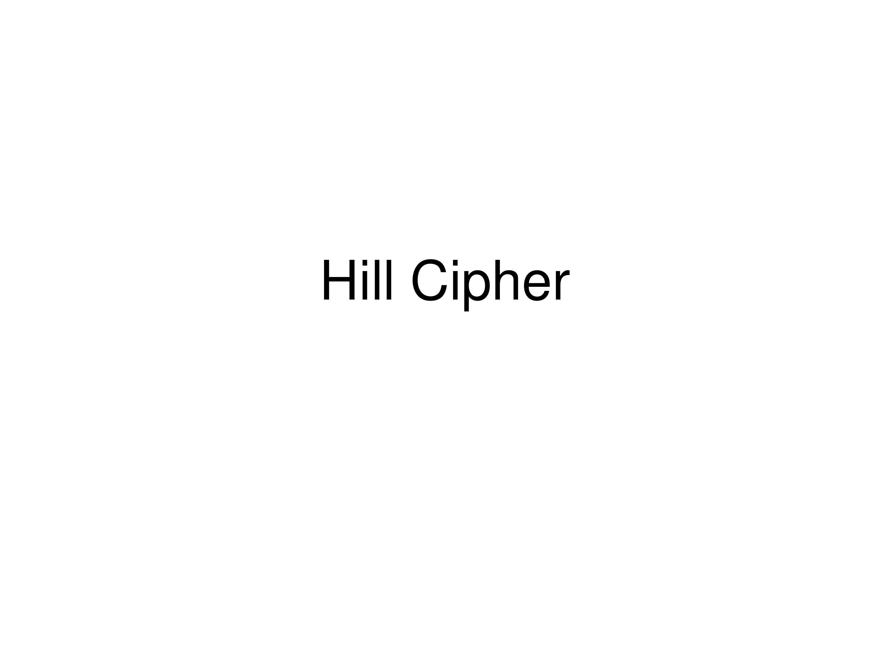 PPT On Hill Cipher